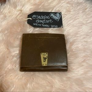Vintage Gucci Brown Leather Compact Bifold Wallet